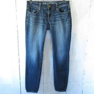 American Eagle Jegging Skinny Jeans Ankle Crop